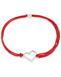 ALEX AND ANI - Kindred Cord Heart Pull Cord Bracelet - Lyst