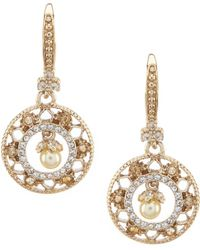 Marchesa - Small Round Drop Statement Earrings - Lyst