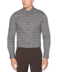 Perry Ellis - Big Tall Printed Water Repellent Stain Resistant Stretch Long-sleeve Woven Shirt - Lyst