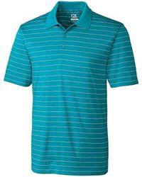 Cutter & Buck - Golf Drytec Franklin Horizontal Stripe Polo Shirt - Lyst