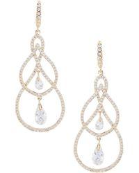 Jenny Packham - Crystal Pave Orbital Earrings - Lyst