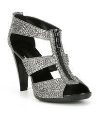 MICHAEL Michael Kors - Berkley Glitter T-strap Sandals - Lyst