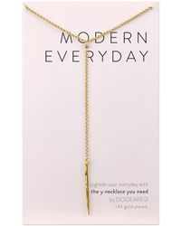 Dogeared - Modern Everyday Spear Y Necklace - Lyst