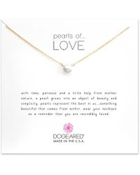 Dogeared - Pearls Of Love Freshwater Pearl Delicate Gold Dipped Necklace - Lyst