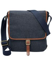 Fossil - Buckner Canvas City Bag - Lyst