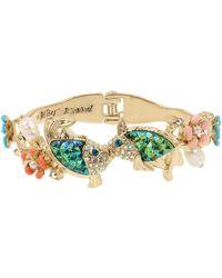 Betsey Johnson Kissing Fish Bangle Bracelet