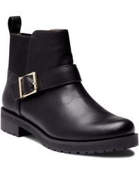 Vionic - Mara Water Resistant Leather Booties - Lyst
