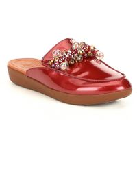 Fitflop - Serene Deco Pearled Patent Mules - Lyst