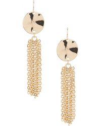 Dillard's - Tailored Wavy Disc Tassel Statement Earrings - Lyst