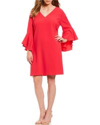 ac95eab4e940 Lyst - Eliza J Side Ruffle Faux Wrap Jersey Dress (plus Size) in Blue