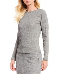 Gianni Bini - Rue Long Sleeve Fitted Top - Lyst