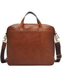Fossil - Buckner Leather Briefcase - Lyst