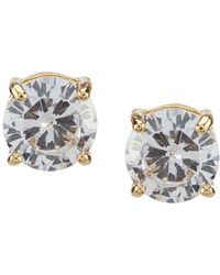 Anne Klein - Crystal Gold Stud Earrings - Lyst