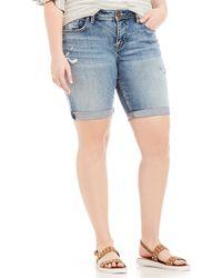 Silver Jeans Co. - Plus Suki Bermuda Shorts - Lyst