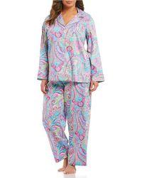 Lauren by Ralph Lauren - Plus Paisley Sateen Pajamas - Lyst