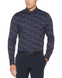 Perry Ellis - Big & Tall Multi-circle Print Stretch Long-sleeve Woven Shirt - Lyst