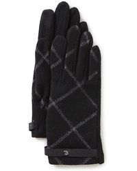 Lauren by Ralph Lauren - Plaid Touch Gloves - Lyst