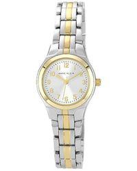Anne Klein | Two-tone Analog Bracelet Watch | Lyst
