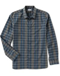Calvin Klein - Plaid Heather Melange Long-sleeve Woven Shirt - Lyst