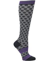 Comfortiva - Polka Dot Compression Socks Single Pack - Lyst
