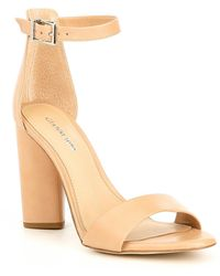 edb7706fb34 Gianni Bini - Joenah Two Piece Ankle Strap Block Heel Dress Sandals - Lyst