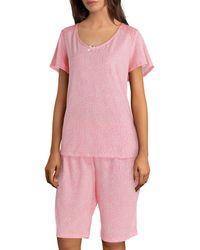 Karen Neuburger - Printed Jersey Pyjama Bermuda Shorts Set - Lyst