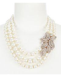 Anne Klein - Blanc Pearl Necklace - Lyst