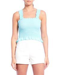 c973eca44b Ralph Lauren Blue Label Megan Striped Oxford Shirt in Pink - Lyst
