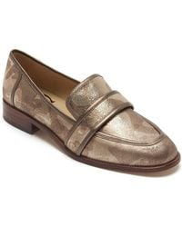 Etienne Aigner - Elle Camo Print Metallic Leather Loafers - Lyst