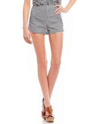 Guess - Gingham-print Shorts - Lyst