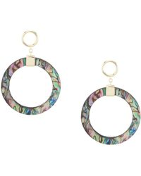 Argento Vivo - Abalone Gypsy Hoop Earrings - Lyst
