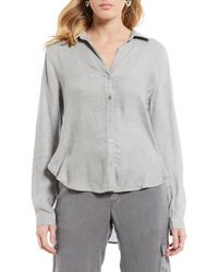 9ddd139d88c592 Chelsea   Violet - Metallic Stripe Button Front Shirt - Lyst