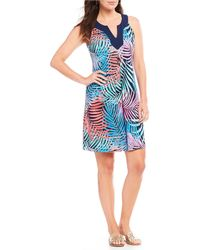 Tommy Bahama - Tulum Trance Tropical Print Sleeveless Dress - Lyst