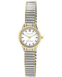 Anne Klein | Two-tone Alloy Expansion Bracelet Watch | Lyst