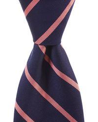 "Brooks Brothers - Stripe Traditional 3.25"" Silk Tie - Lyst"