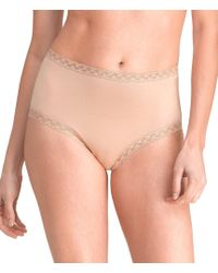 Natori - Bliss Pima Cotton Brief Panty - Lyst