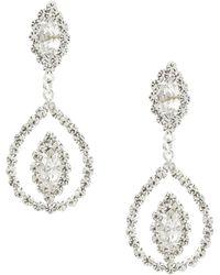 Cezanne - Navette Rhinestone Statement Earrings - Lyst