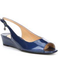 J. Reneé - Alivia Patent Leather Slingback Peep-toe Dress Wedges - Lyst