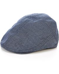Cremieux Chambray Driver Hat - Blue