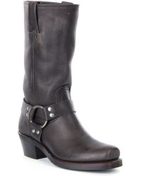Frye | Harness 12r Leather Square-toe Boots | Lyst