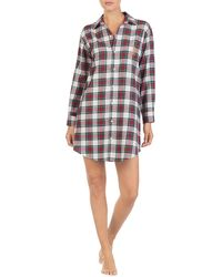 Lauren by Ralph Lauren - His Shirt Plaid-print Brushed Twill Sleepshirt -  Lyst 822870229