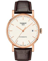 Tissot - Everytime Swissmatic Leather-strap Watch - Lyst