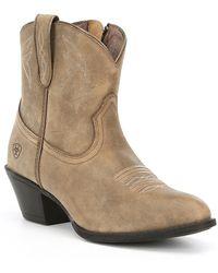 Ariat - Darlin Block Heel Western Block Heel Booties - Lyst