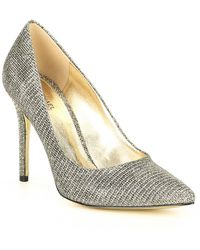 MICHAEL Michael Kors - Claire Glitter Chain Mesh Dress Pumps - Lyst