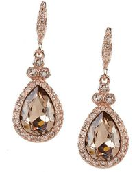 Givenchy - Pavé Pear Drop Earrings - Lyst