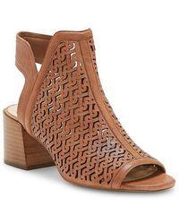 Vince Camuto Sternat Metallic Laser Cut Block Heel Sandals I8vRc2A