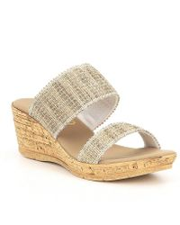 Onex - Emmie Two Band Woven Wedges - Lyst