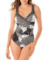 325c0b9ee1e58 Miraclesuit - Moonlight At The Oasis Wrap One Piece Swimsuit - Lyst