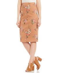 c16007099f Antonio Melani Adelaide Stretch Satin Exaggerated Bow Skirt in Black - Lyst