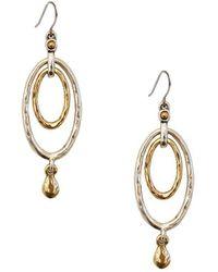 Lucky Brand - Two-tone Oval Orbital Earrings - Lyst